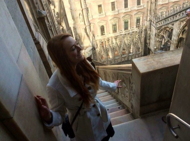 Climbing the Milan Cathedral