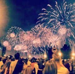 Budapest National Day fireworks